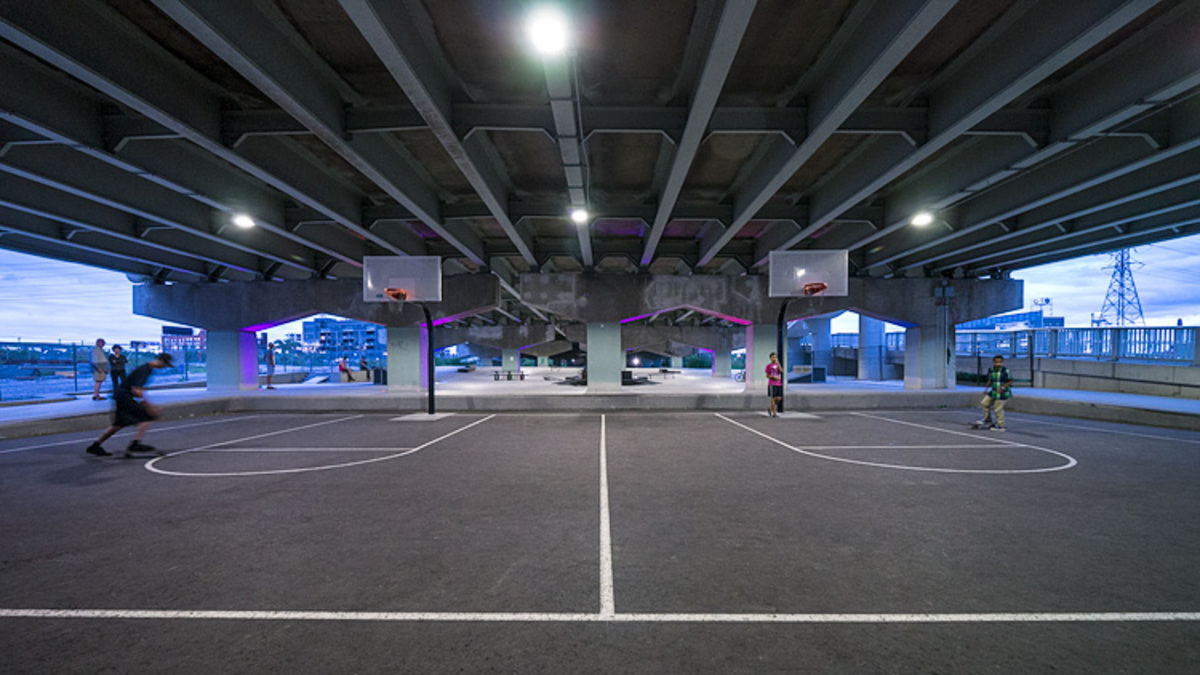 The Underpass Park Basketball Courts City Of Toronto